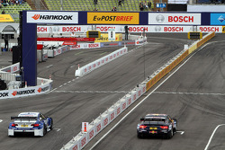 Sunday Round of 16 Joey Hand, BMW Team RMG BMW M3 DTM against Mattias Ekström, ABT Sportsline Audi A5 DTM
