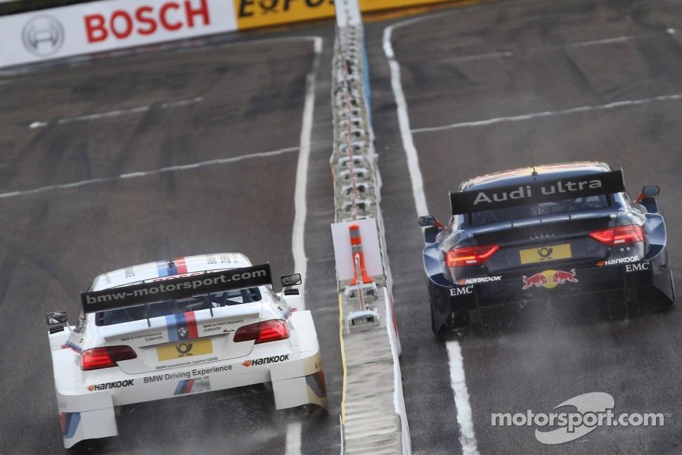 Sunday Quarter Finals Martin Tomczyk, BMW Team RMG BMW M3 DTM against Mattias Ekström, ABT Sportsline Audi A5 DTM