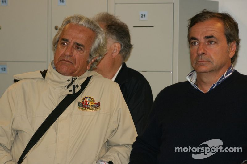Carlos Sainz Sr and his father