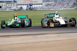 Ed Carpenter, Ed Carpenter Racing Chevrolet and Simona de Silvestro, HVM Racing Lotus