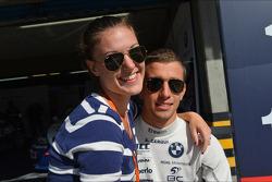 Alberto Cerqui, BMW 320 TC, ROAL Motorsport and his girlfriend