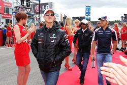 Michael Schumacher, Mercedes AMG F1 en el desfile de pilotos