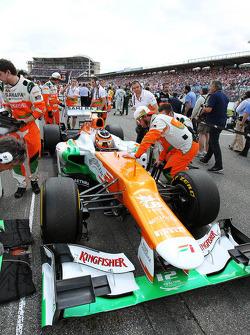Nico Hulkenberg, Sahara Force India F1 en la parrilla