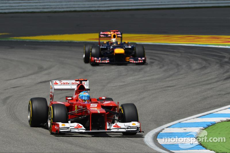 Fernando Alonso, Ferrari voor Sebastian Vettel, Red Bull Racing