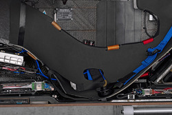 A cutaway view of the driver's seat in the Sauber F1.08