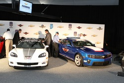 The Corvette and Camaro pace cars