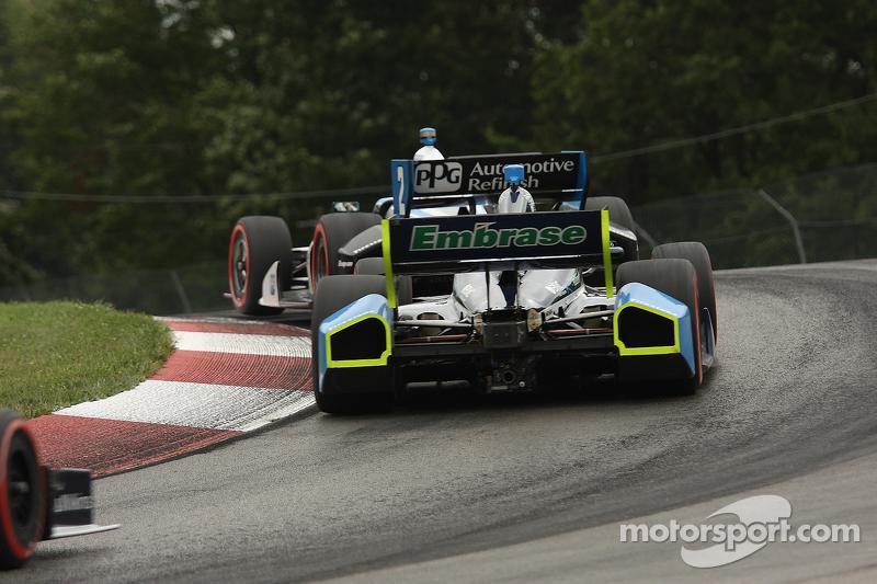 Rubens Barrichello, KV Racing Technology Chevrolet Ryan Briscoe, Team Penske Chevrolet