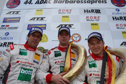 Podium: race winners Frank Biela, Christian Hohenadel, Thomas Mutsch