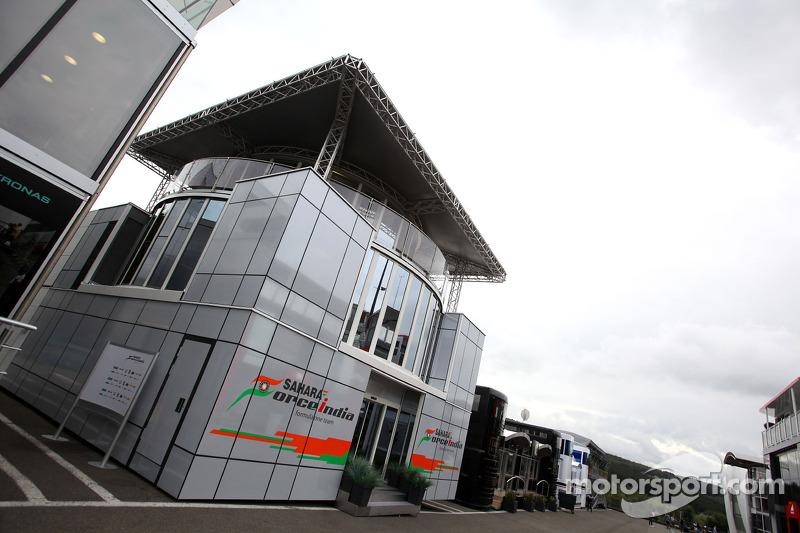 Sahara Force India Formula One Team hospitality in de paddock