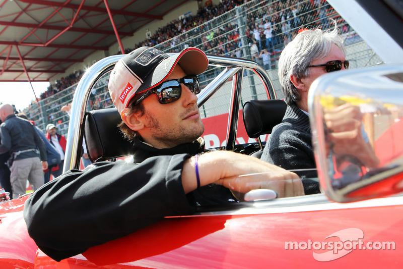 Romain Grosjean, Lotus F1 Tea, rijdersparade