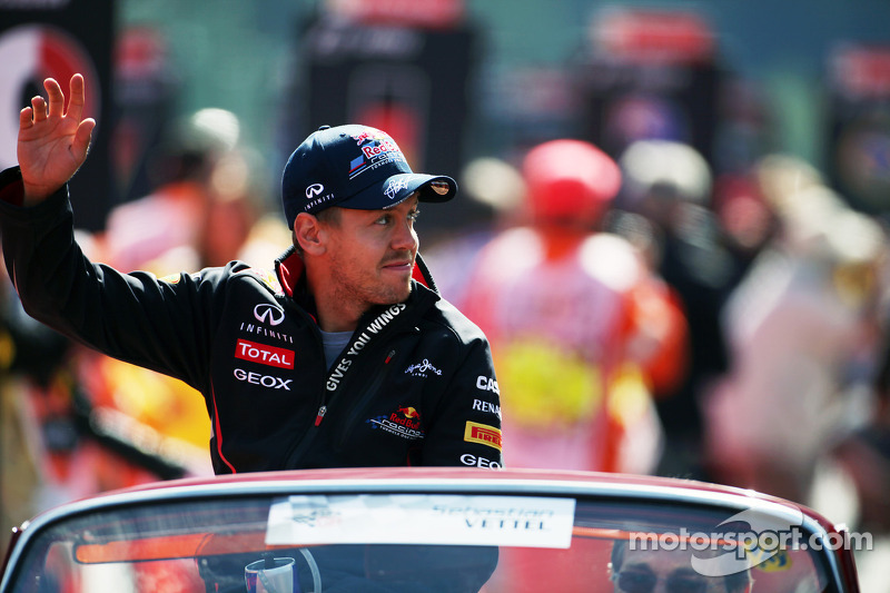 Sebastian Vettel, Red Bull Racing rijdersparade