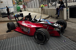 The crashed car of Emerson Newton-John