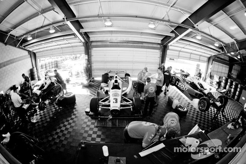 Team Penske Chevrolet garage area