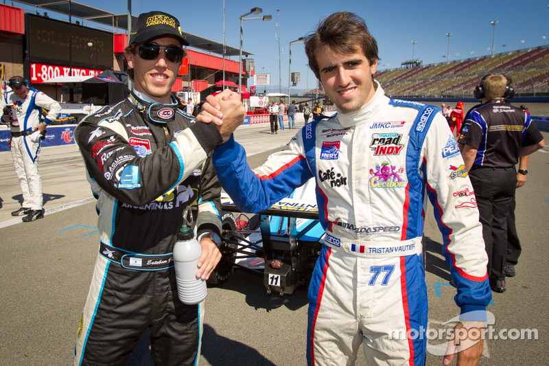Indy Lights series titlekandidaten Esteban Guerrieri, Sam Schmidt Motorsports en Tristan Vautier, Sam Schmidt Motorsports