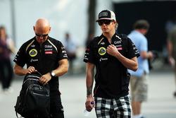 Kimi Raikkonen, Lotus F1 Team met Mark Arnall, Personal Trainer