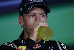 FIA press conference: race winner Sebastian Vettel, Red Bull Racing