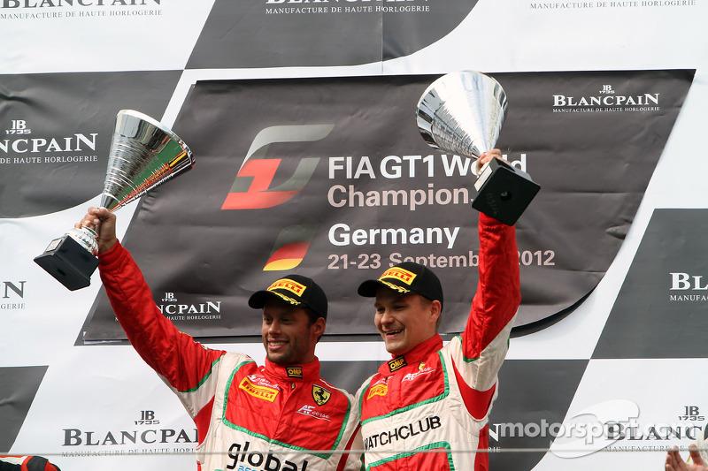 Podium: winners Filip Salaquarda, Toni Vilander
