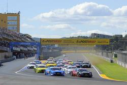 Start: Filipe Albuquerque, Audi Sport Team Rosberg Audi A5 DTM; Edoardo Mortara, Audi Sport Team Rosberg Audi A5 DTM