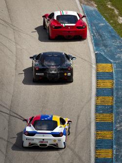 #64 Ferrari of Ft Lauderdale 458CS: Frank Fusillo, #14 Ferrari of San Diego 458CS: Brent Lawrence, #59 Ferrari of Ft Lauderdale 458CS: Maurizio Scala