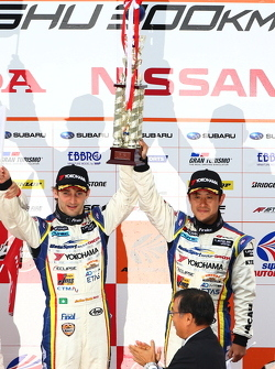 GT500 podium: third place Seiji Ara, Andre Couto