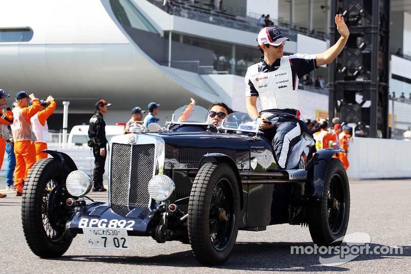Bruno Senna, Williams on the drivers parade