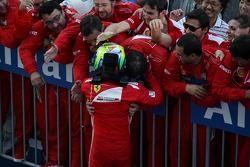 Felipe Massa, Ferrari celebrates his second position in parc ferme