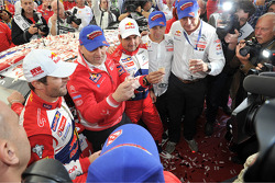 Rally winners and 2012 World Champions Sébastien Loeb and Daniel Elena, Citroën DS3 WRC, Citroën Total World Rally Team
