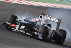Kamui Kobayashi, Sauber blokkeert banden