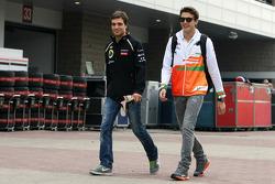 Jérôme d'Ambrosio, Tercer Piloto del Lotus F1 Team con Jules Bianchi, del Sahara Force India F1 Team