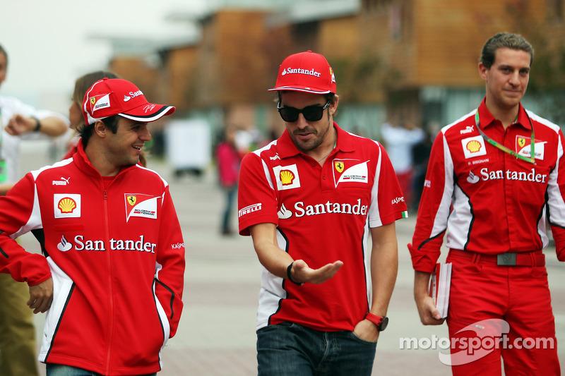 Felipe Massa, Ferrari met Fernando Alonso, Ferrari