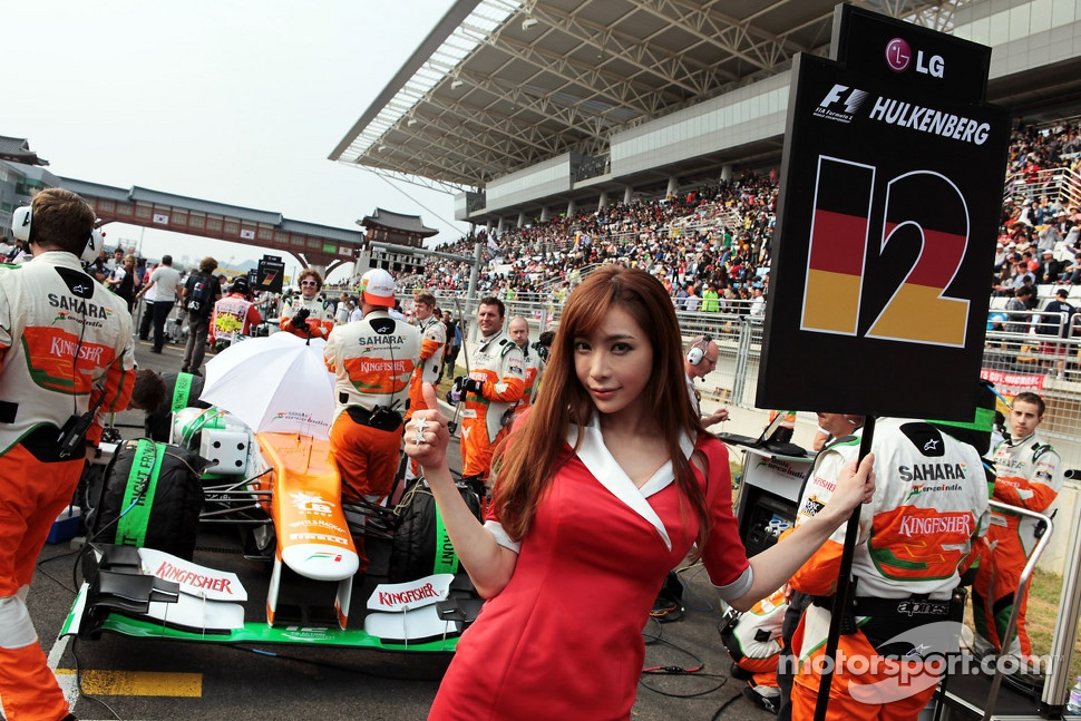 Grid girl of Nico Hulkenberg, Sahara Force India F1