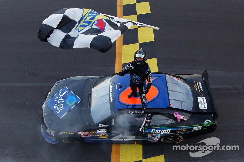 Race winner Ricky Stenhouse Jr.