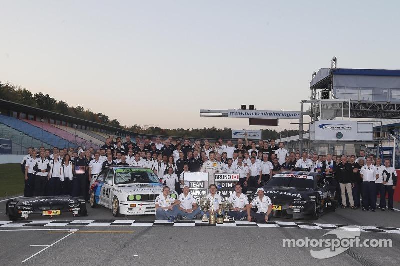 BMW Motorsport celebrate the championships with Bruno Spengler, BMW Team Schnitzer BMW M3 DTM