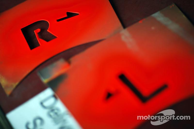 Sahara Force India F1 Team bandenmarkeerders