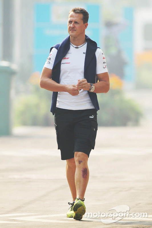 Michael Schumacher Leg Injury