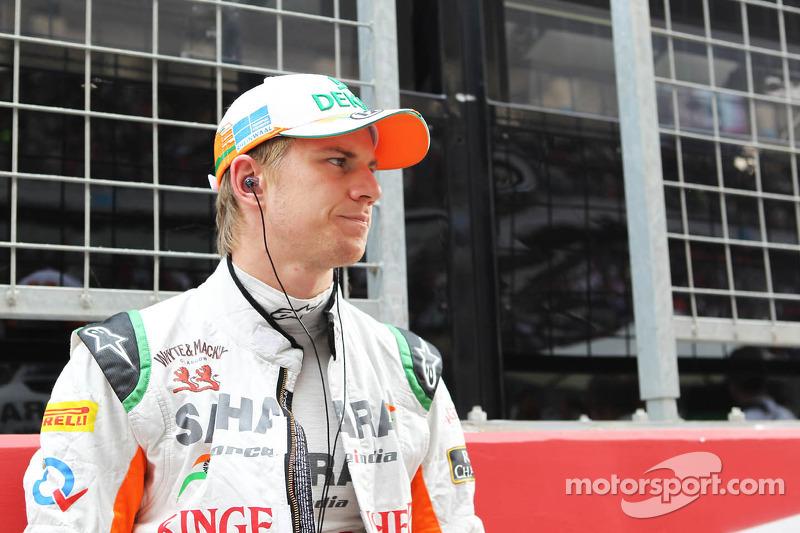 Nico Hulkenberg, Sahara Force India F1 on the grid