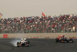 Sergio Perez, Sauber F1 Team and Jean-Eric Vergne, Scuderia Toro Rosso