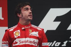 Fernando Alonso, Ferrari on the podium