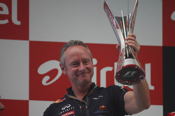 Jonathan Wheatley, Red Bull Racing Team Manager on the podium