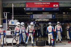 Toyota team ready for a stop