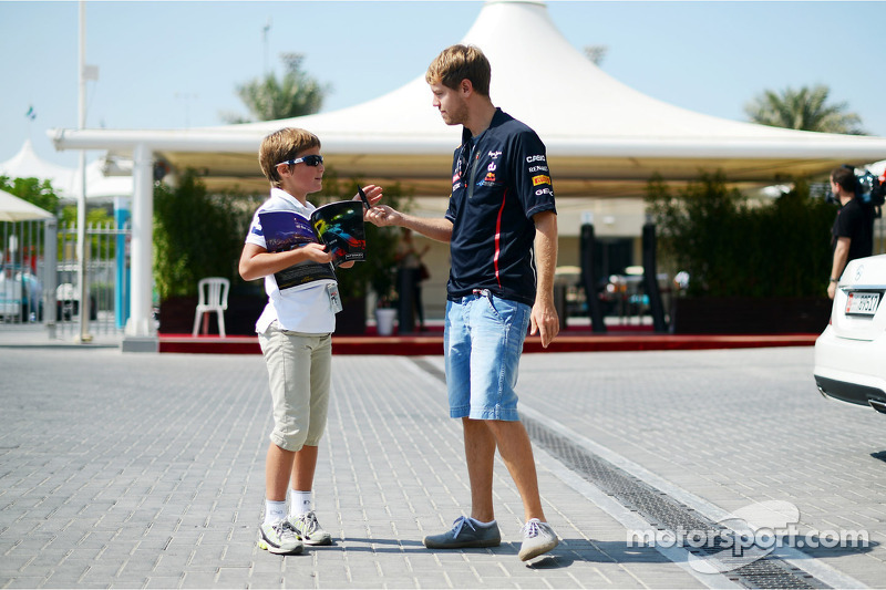 Sebastian Vettel, Red Bull Racing met fan