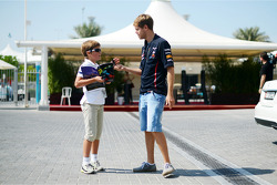 Sebastian Vettel, Red Bull Racing with a fan