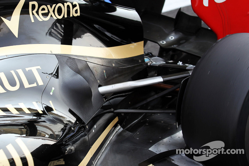 Lotus F1 ophanging en uitlaat