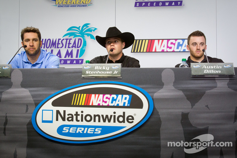 Championship contenders press conference: Elliott Sadler, Richard Childress Racing Chevrolet, Ricky Stenhouse Jr., Roush Fenway Ford, Austin Dillon, Richard Childress Racing Chevrolet