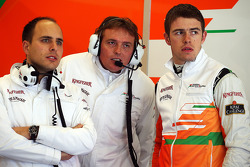 Paul di Resta, Sahara Force India F1 with Gianpiero Lambiase, Sahara Force India F1 Engineer