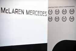 McLaren Mercedes pit signage