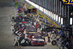 Pit stop for Parker Kligerman, Red Horse Racing Toyota