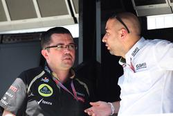 Eric Boullier, Lotus F1 Team Principal met Gerard Lopez, Genii Capital