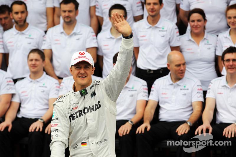 Michael Schumacher beim Abschiedsfoto