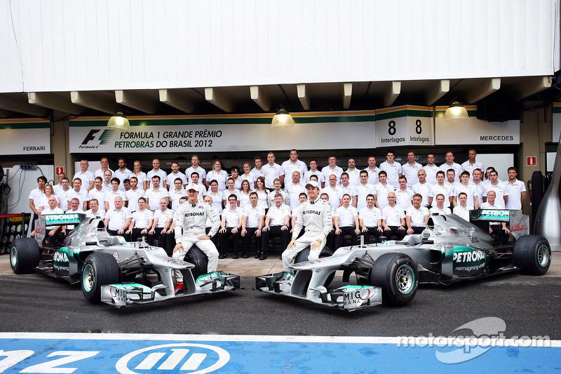 Michael Schumacher, Mercedes AMG F1, y Nico Rosberg, Mercedes AMG F1